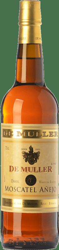 7,95 € Envío gratis | Vino dulce De Muller Moscatel Añejo D.O.Ca. Priorat Cataluña España Moscatel de Alejandría Botella 75 cl