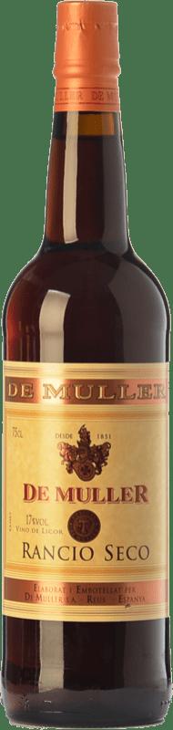 7,95 € Envío gratis | Vino generoso De Muller Rancio Seco D.O.Ca. Priorat Cataluña España Garnacha, Cariñena Botella 75 cl
