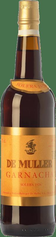 39,95 € Envío gratis | Vino dulce De Muller Solera 1926 D.O. Tarragona Cataluña España Garnacha Botella 75 cl