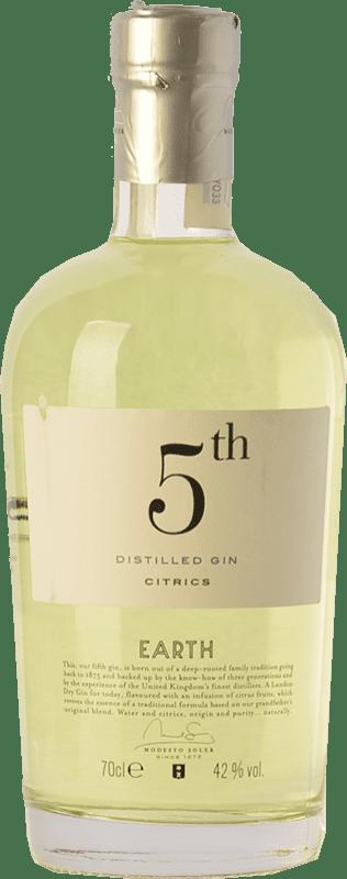 23,95 € | Gin Destilerías del Maresme Gin 5th Earth Citrics Spain Bottle 70 cl