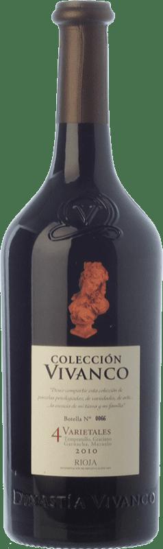 38,95 € Envoi gratuit | Vin rouge Vivanco Colección 4 Varietales Crianza D.O.Ca. Rioja La Rioja Espagne Tempranillo, Grenache, Graciano, Mazuelo Bouteille 75 cl
