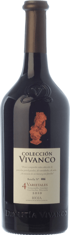 38,95 € 免费送货   红酒 Vivanco Colección 4 Varietales Crianza D.O.Ca. Rioja 拉里奥哈 西班牙 Tempranillo, Grenache, Graciano, Mazuelo 瓶子 75 cl