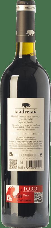 12,95 € | Red wine Divina Proporción Madremía Joven D.O. Toro Castilla y León Spain Tinta de Toro Bottle 75 cl