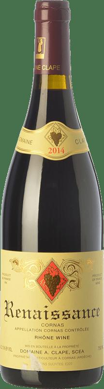 64,95 € | Red wine Auguste Clape Renaissance Crianza A.O.C. Cornas Rhône France Syrah Bottle 75 cl