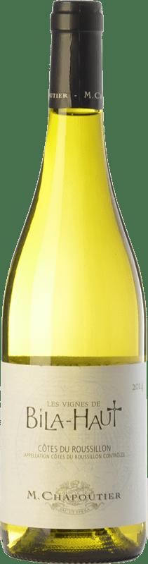 10,95 € Free Shipping | White wine Domaine de Bila-Haut Les Vignes Blanc A.O.C. Côtes du Roussillon Languedoc-Roussillon France Grenache White, Grenache Grey, Macabeo Bottle 75 cl