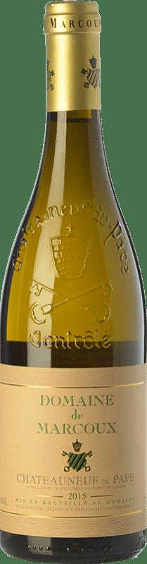 69,95 € Envío gratis | Vino blanco Domaine de Marcoux Blanc Crianza A.O.C. Châteauneuf-du-Pape Rhône Francia Roussanne, Bourboulenc Botella 75 cl