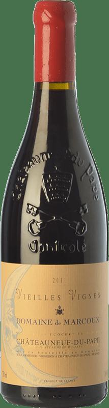 159,95 € Envío gratis | Vino tinto Domaine de Marcoux Vieilles Vignes Crianza A.O.C. Châteauneuf-du-Pape Rhône Francia Garnacha Botella 75 cl