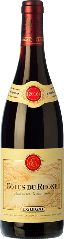 16,95 € Free Shipping | Red wine Domaine E. Guigal Rouge Crianza A.O.C. Côtes du Rhône Rhône France Syrah, Grenache, Mourvèdre Bottle 75 cl