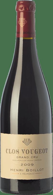 157,95 € 免费送货   红酒 Domaine Henri Boillot Grand Cru Crianza 2009 A.O.C. Clos de Vougeot 勃艮第 法国 Pinot Black 瓶子 75 cl