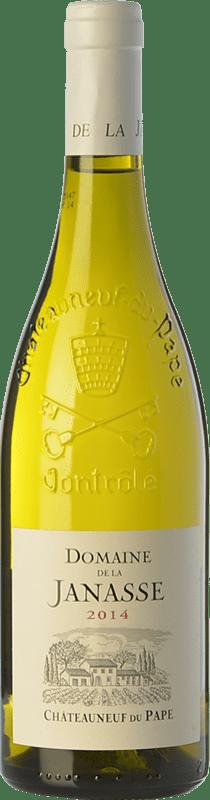 55,95 € Free Shipping | White wine Domaine La Janasse Blanc Crianza A.O.C. Châteauneuf-du-Pape Rhône France Grenache White, Roussanne, Clairette Blanche Bottle 75 cl
