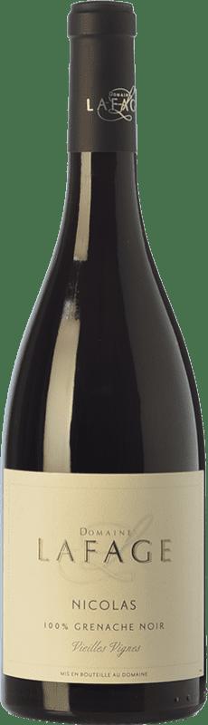 9,95 € Free Shipping | Red wine Domaine Lafage Nicolas Joven I.G.P. Vin de Pays Côtes Catalanes Languedoc-Roussillon France Grenache Bottle 75 cl