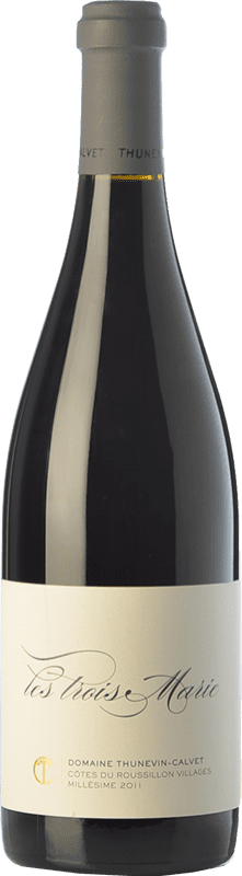 81,95 € | Red wine Thunevin-Calvet Les Trois Marie Crianza A.O.C. Côtes du Roussillon Villages Languedoc-Roussillon France Grenache Bottle 75 cl