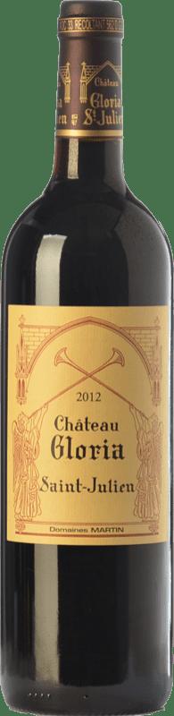 53,95 € Free Shipping | Red wine Domaines Henri Martin Château Gloria Crianza A.O.C. Saint-Julien Bordeaux France Merlot, Cabernet Sauvignon, Cabernet Franc, Petit Verdot Bottle 75 cl