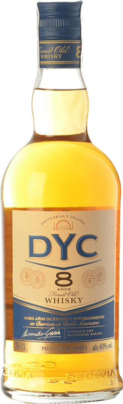 12,95 € Free Shipping | Whisky Blended DYC 8 Spain Bottle 70 cl