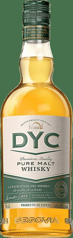 18,95 € Envío gratis | Whisky Single Malt DYC Pure Malt España Botella 70 cl