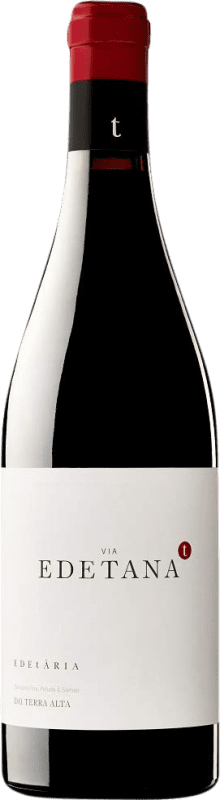 14,95 € Free Shipping | Red wine Edetària Via Edetana Negre Crianza D.O. Terra Alta Catalonia Spain Syrah, Grenache, Carignan Bottle 75 cl
