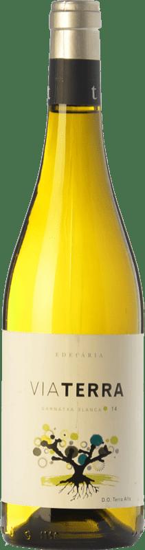 9,95 € Envío gratis | Vino blanco Edetària Via Terra Blanc D.O. Terra Alta Cataluña España Garnacha Blanca Botella 75 cl