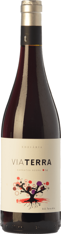 11,95 € Free Shipping | Red wine Edetària Via Terra Negre Joven D.O. Terra Alta Catalonia Spain Grenache Bottle 75 cl