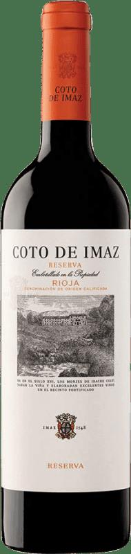 9,95 € Envío gratis | Vino tinto Coto de Rioja Coto de Imaz Reserva D.O.Ca. Rioja La Rioja España Tempranillo Botella 75 cl