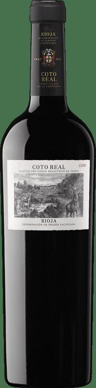 29,95 € Envío gratis | Vino tinto Coto de Rioja Coto Real Reserva D.O.Ca. Rioja La Rioja España Tempranillo, Garnacha, Mazuelo Botella 75 cl