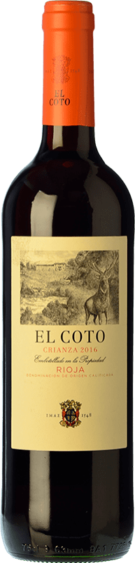 5,95 € | Red wine Coto de Rioja Crianza D.O.Ca. Rioja The Rioja Spain Tempranillo Bottle 75 cl