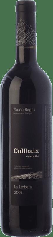 18,95 € Envío gratis | Vino tinto El Molí Collbaix La Llobeta Crianza D.O. Pla de Bages Cataluña España Merlot, Cabernet Sauvignon, Cabernet Franc Botella 75 cl