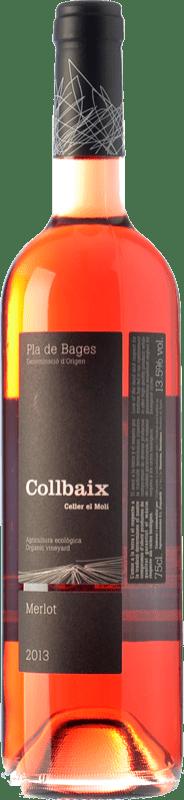 12,95 € Envío gratis | Vino rosado El Molí Collbaix Rosat D.O. Pla de Bages Cataluña España Merlot, Sumoll Botella 75 cl