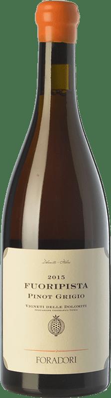 29,95 € 免费送货 | 白酒 Foradori Fuoripista Pinot Grigio I.G.T. Vigneti delle Dolomiti 特伦蒂诺 意大利 Pinot Grey 瓶子 75 cl