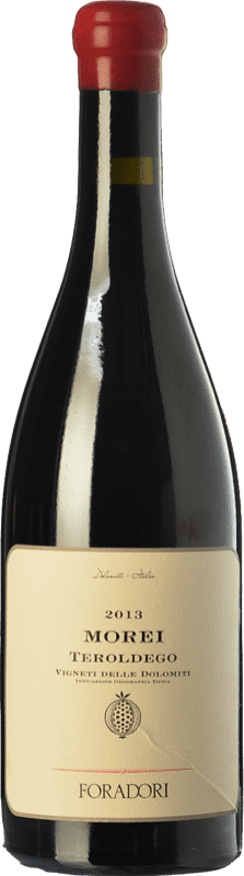 38,95 € 免费送货 | 红酒 Foradori Morei I.G.T. Vigneti delle Dolomiti 特伦蒂诺 意大利 Teroldego 瓶子 75 cl