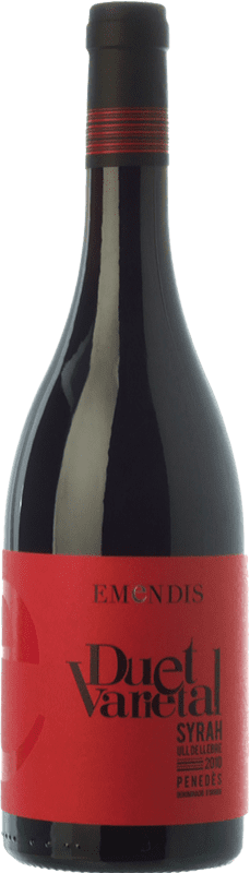 9,95 € | Red wine Emendis Duet Varietal Joven D.O. Penedès Catalonia Spain Tempranillo, Syrah Bottle 75 cl