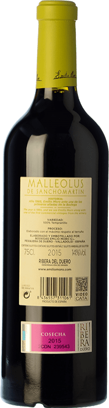 113,95 € Free Shipping   Red wine Emilio Moro Malleolus de Sanchomartín Reserva D.O. Ribera del Duero Castilla y León Spain Tempranillo Bottle 75 cl
