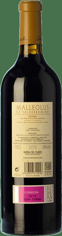 89,95 € Free Shipping   Red wine Emilio Moro Malleolus de Valderramiro Crianza D.O. Ribera del Duero Castilla y León Spain Tempranillo Bottle 75 cl