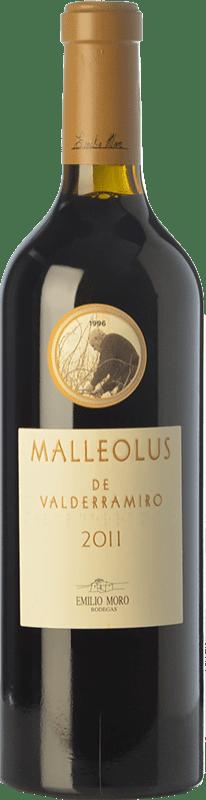 85,95 € | Red wine Emilio Moro Malleolus de Valderramiro Crianza D.O. Ribera del Duero Castilla y León Spain Tempranillo Magnum Bottle 1,5 L