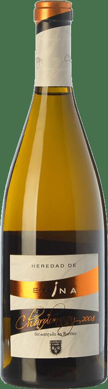13,95 € Envío gratis | Vino blanco Emina Heredad Barrica Crianza I.G.P. Vino de la Tierra de Castilla y León Castilla y León España Chardonnay Botella 75 cl