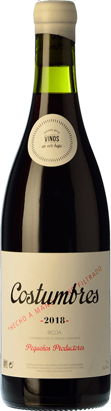 18,95 € Free Shipping | Red wine En Voz Baja Costumbres Crianza D.O.Ca. Rioja The Rioja Spain Grenache Bottle 75 cl