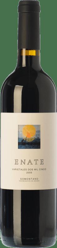 29,95 € Envío gratis | Vino tinto Enate Varietales Crianza D.O. Somontano Aragón España Tempranillo, Merlot, Cabernet Sauvignon Botella 75 cl