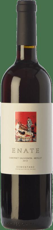 6,95 € 免费送货 | 红酒 Enate Cabernet Sauvignon-Merlot Joven D.O. Somontano 阿拉贡 西班牙 Merlot, Cabernet Sauvignon 瓶子 75 cl