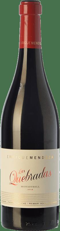 28,95 € | Red wine Enrique Mendoza Las Quebradas Crianza D.O. Alicante Valencian Community Spain Monastrell Bottle 75 cl
