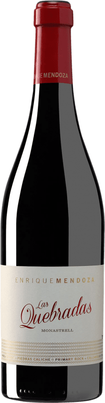28,95 € Envoi gratuit | Vin rouge Enrique Mendoza Las Quebradas Crianza D.O. Alicante Communauté valencienne Espagne Monastrell Bouteille 75 cl