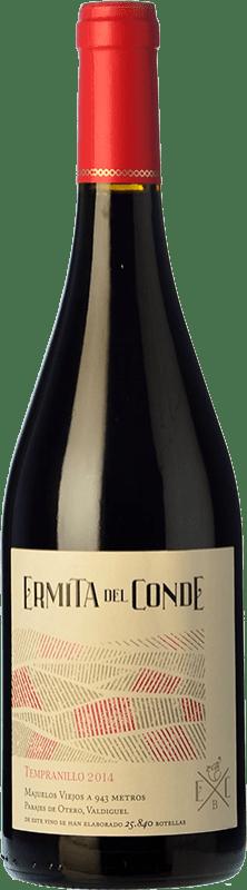 16,95 € | Red wine Ermita del Conde Crianza I.G.P. Vino de la Tierra de Castilla y León Castilla y León Spain Tempranillo, Merlot Bottle 75 cl