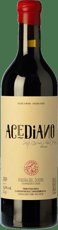 44,95 € Free Shipping | Red wine Erre Vinos Acediano Crianza D.O. Ribera del Duero Castilla y León Spain Tempranillo Bottle 75 cl