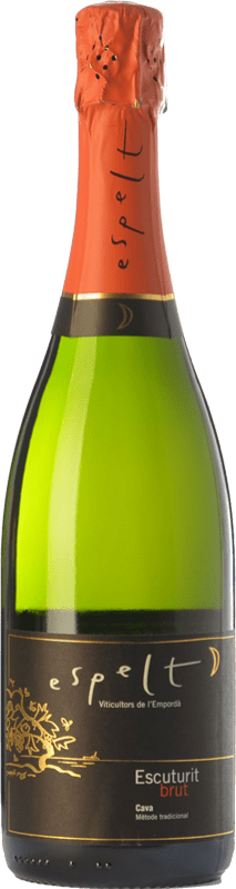 9,95 € Free Shipping | White sparkling Espelt Escuturit Brut Reserva D.O. Cava Catalonia Spain Macabeo, Xarel·lo, Chardonnay Bottle 75 cl