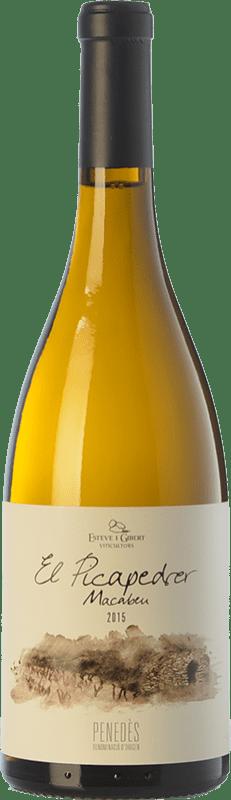 11,95 € Free Shipping | White wine Esteve i Gibert El Picapedrer Crianza D.O. Penedès Catalonia Spain Macabeo Bottle 75 cl