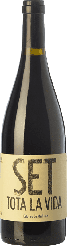 14,95 € Free Shipping | Red wine Estones de Mishima Set Tota La Vida Joven D.O. Montsant Catalonia Spain Syrah, Grenache, Carignan Bottle 75 cl