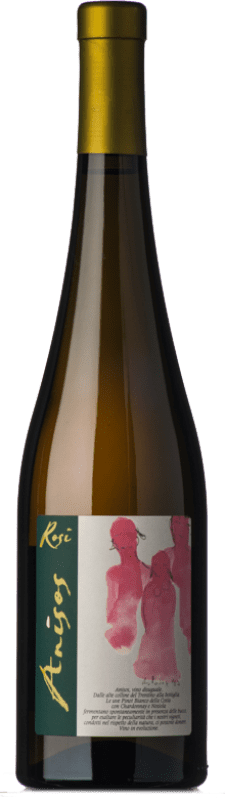 31,95 € Free Shipping | White wine Rosi Anisos I.G.T. Vallagarina Trentino Italy Chardonnay, Pinot White, Nosiola Bottle 75 cl
