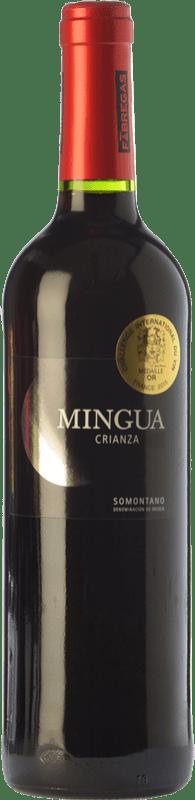 6,95 € Free Shipping | Red wine Fábregas Mingua Crianza D.O. Somontano Aragon Spain Merlot, Cabernet Sauvignon Bottle 75 cl