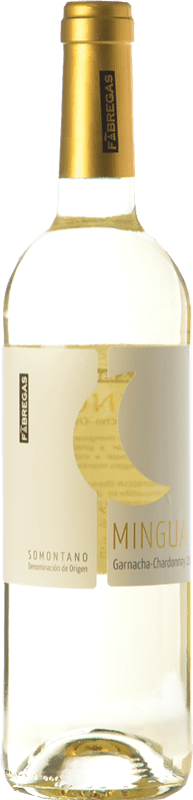 6,95 € Free Shipping | White wine Fábregas Mingua Joven D.O. Somontano Aragon Spain Grenache White, Chardonnay Bottle 75 cl
