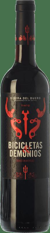 8,95 € Free Shipping | Red wine Family Owned Bicicletas y Demonios Joven D.O. Ribera del Duero Castilla y León Spain Tempranillo Bottle 75 cl