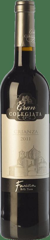 9,95 € 免费送货 | 红酒 Fariña Gran Colegiata Crianza D.O. Toro 卡斯蒂利亚莱昂 西班牙 Tinta de Toro 瓶子 75 cl