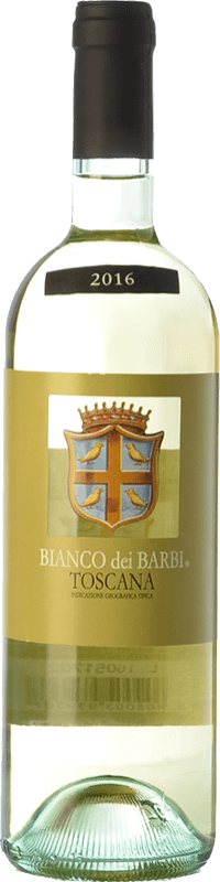 8,95 € Envío gratis | Vino blanco Fattoria dei Barbi Bianco dei Barbi I.G.T. Toscana Toscana Italia Trebbiano, Chardonnay Botella 75 cl